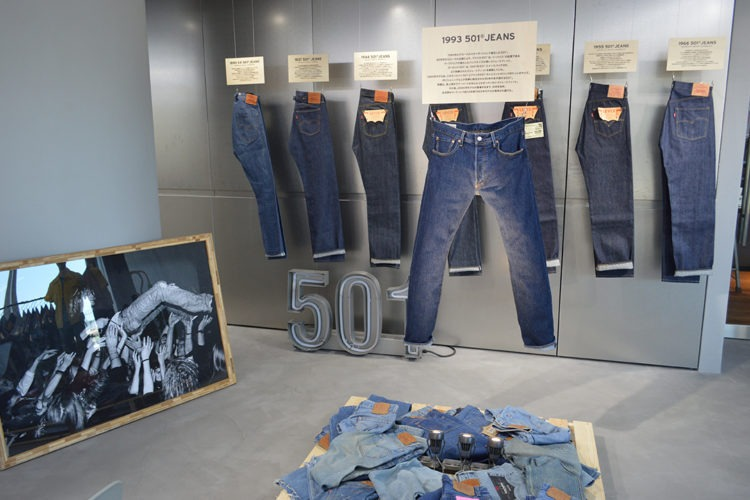 Levi's,denim,display,space design,VMD,fashion,made to order,MTO,press preview,リーバイス,ディスプレイ,空間デザイン,ファッション