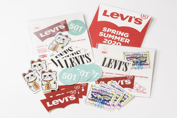 Levi's,invitation,graphic design,made to order,MTO,leaflet,tote bag,press preview,インビテーション,インビテーションカード,リーフレット,トートバッグ,ノベルティ